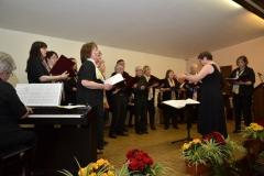 Gemischter Chor Laubach mit Reinhild Christmann, am Piano Sabine Lenz